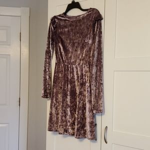 Purple velvet party dress